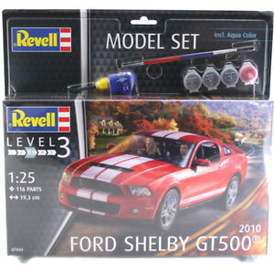 Revell Ford Shelby GT500 2010 Edition Model Set (Level 3) (Scale 1:25) 67044 NEW