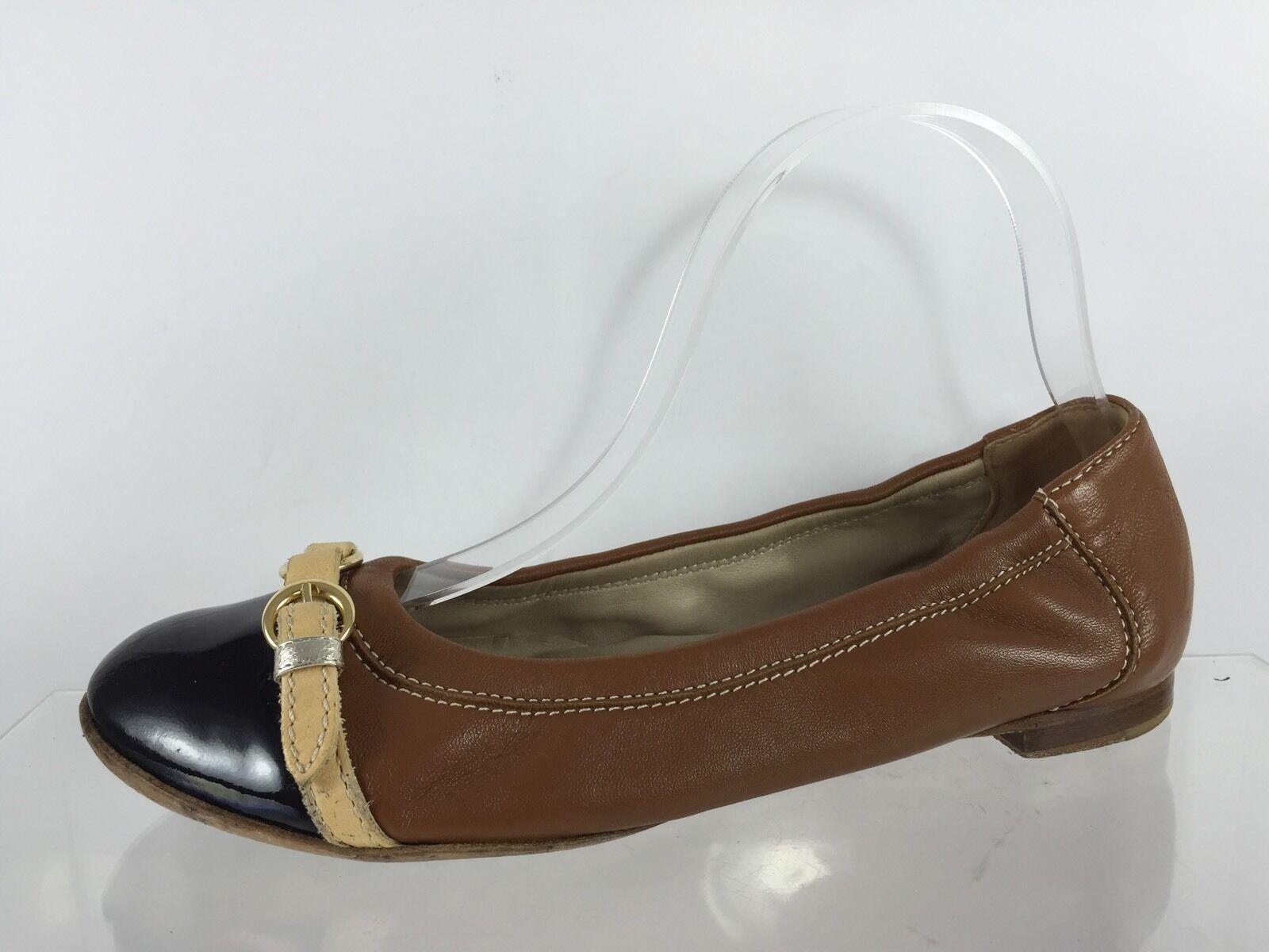 all'ingrosso economico e di alta qualità AGL donna donna donna Marrone Leather Flats 37  economico online