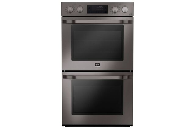 Lg Black Studio Double Wall Self Cleaning Oven Stainless Steel