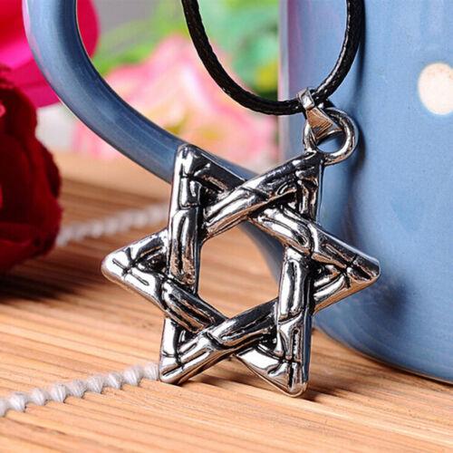 1 Pcs Hexagram Jewish Star Charm Pendant Necklace Chain Choker Necklace 2018 SG