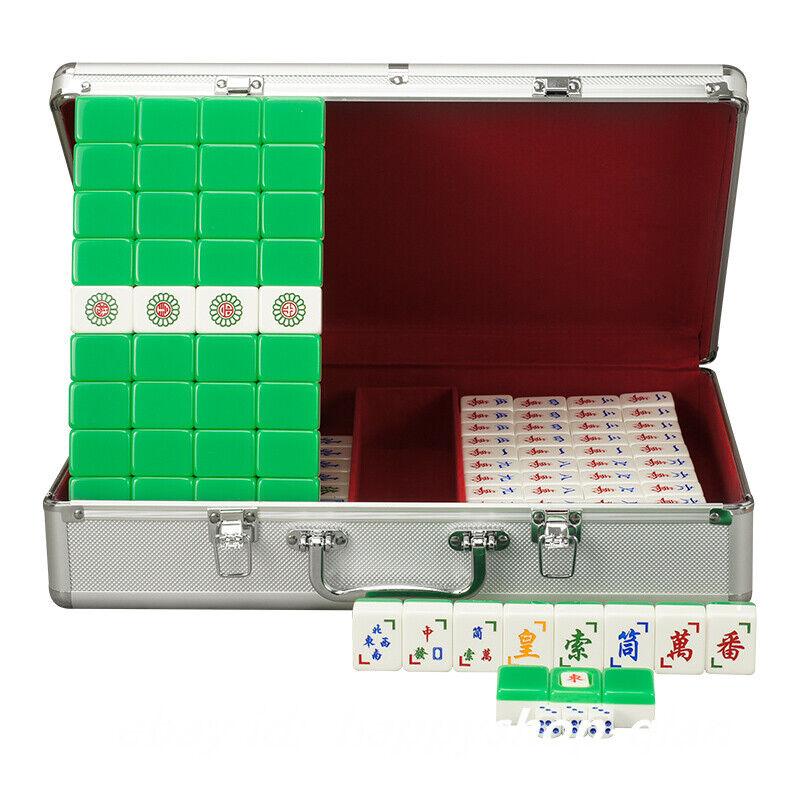 Vietnam Mahjong Chess Family gioco 172Tiles Acrylic Mah-Jong  Set Aluminium Case  negozio online outlet