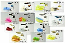 Akuna™ lot of 14 1/2 oz Holographic Willow Colorado Spinnerbait Fishing Lures