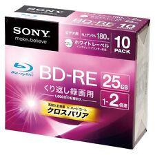 Sony BD-RE 25GB 2X video blu ray 10 pack Repacked Japan