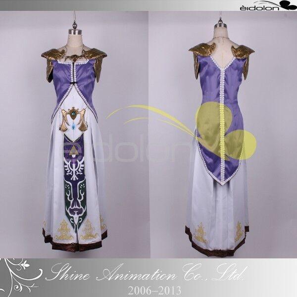 EE0079AB The Legend of Zelda Princess Zelda Cosplay Costume any size