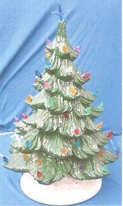 "15 1/2"" GLOSSY GREEN PONDEROSA PINE CHRISTMAS TREE CERAMIC ..."