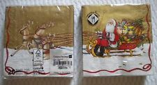 Mesafina Brand Paper Cocktail Napkins 20 count Santa's Sleigh Theme 3 ply German