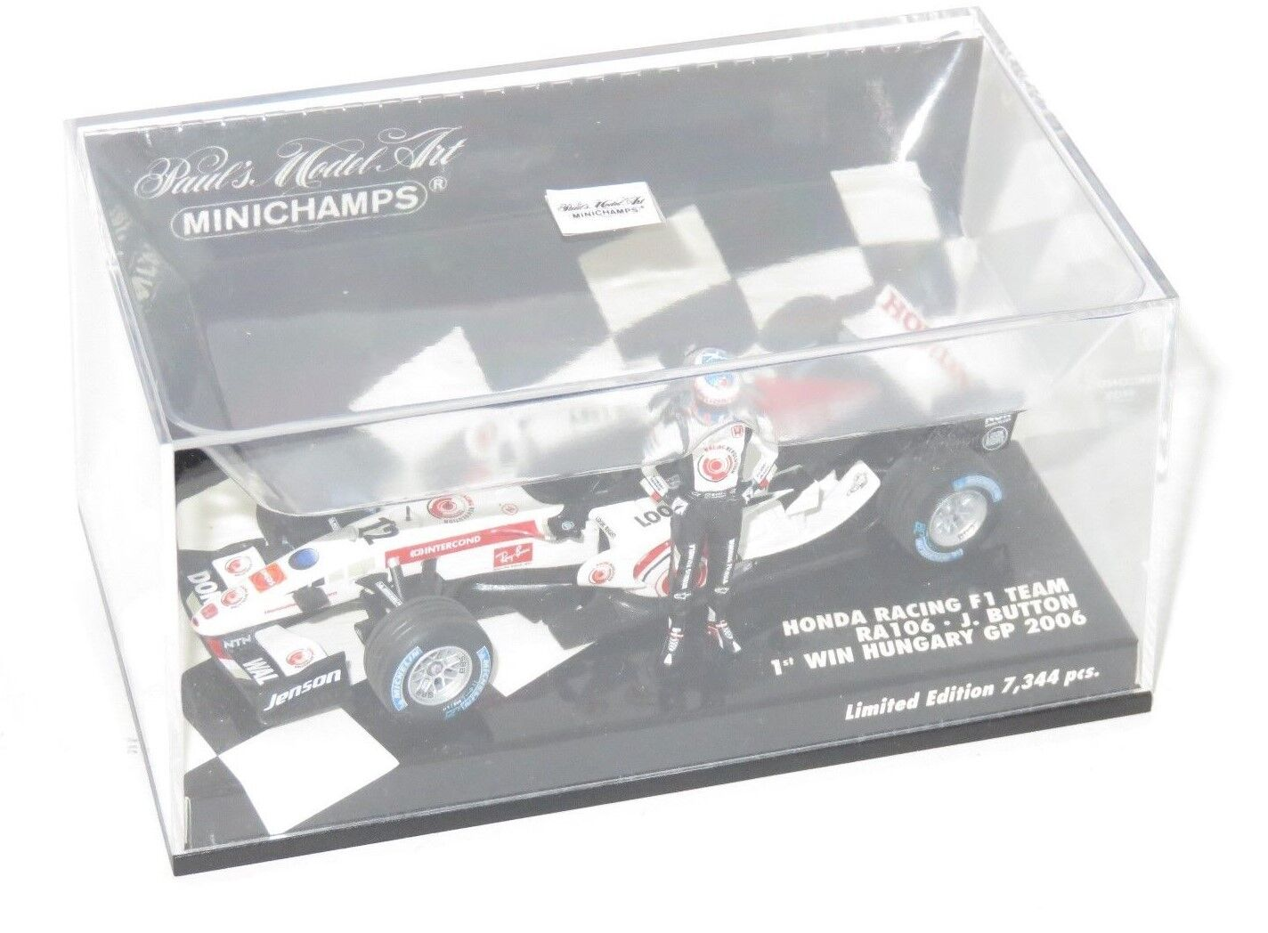 1 43 HONDA RACING RA106 Jenson BUTTON 1st GP Win Hongrie 2006