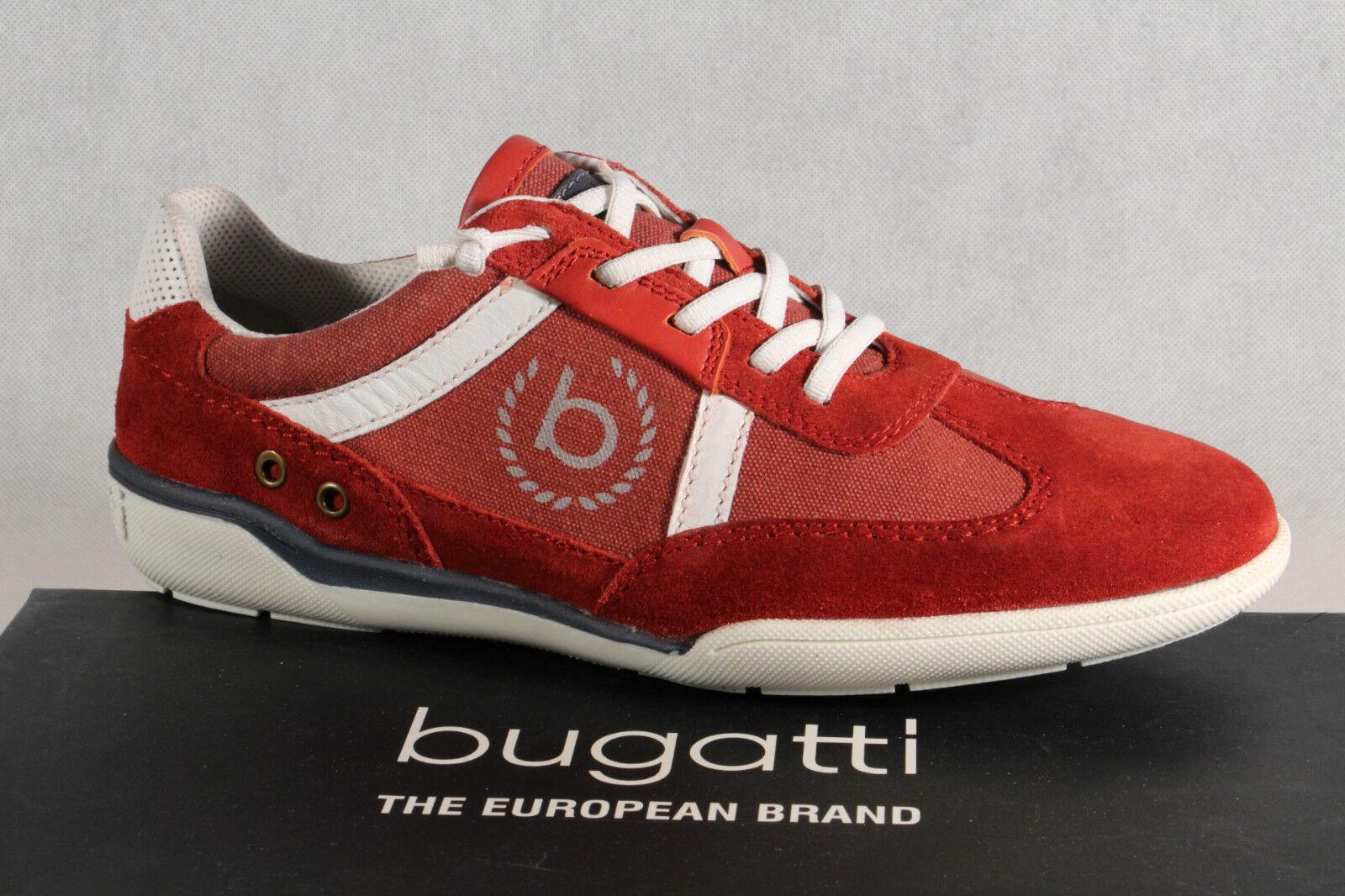 Bugatti Herren Schnürschuh Schnürschuhe Halbschuhe Sneaker rot NEU!