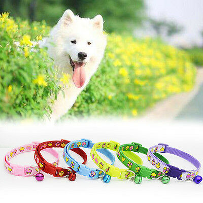 Cute Cartoon Mushroom Pet Dog Cat Safety Collar Adjustable Necklace with Bell