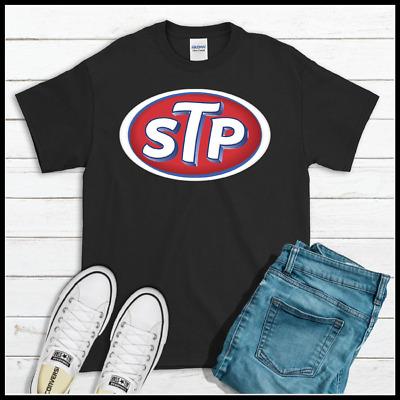 STP Logo Racing Black Men/'s CottonT-Shirt Auto Motor 2