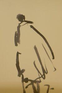 JOSE-TRUJILLO-Artist-ABSTRACT-EXPRESSIONIST-INK-WASH-Fashion-Figure-Poncho-Cape