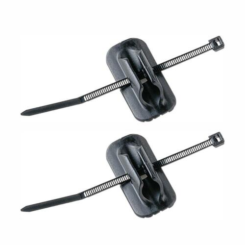 2 x Cable holder stick on clip for bike brake and gear cable tidy 3M