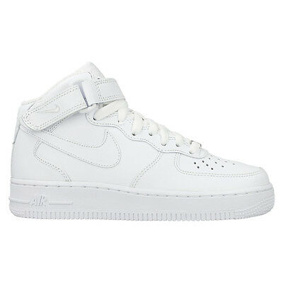 NIKE Scarpe DONNA Shoes Air Force 1 07 Mid White NUOVE New