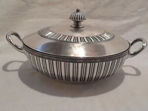 1869-Rogers-amp-Smith-New-Haven-Conn-Silver-Plate-Decorated-Dish-Bowl-Server