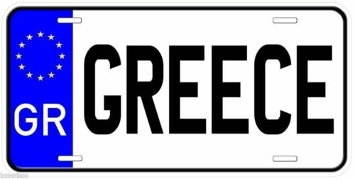 Greece Aluminum Any Name Personalized Novelty Car License Plate