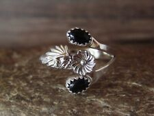 Native American Jewelry Sterling Silver Black Onyx Adjustable Ring! R. Pino