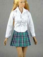 1/6 Scale Phicen, Hot Toys, Kumik & NT Female White Shirt & Green Skirt Set