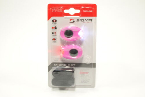 Sigma Sport Micro Bike Blinky Safety Led Bicycle Light Set Pink New