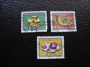 Switzerland-Stamp-Yvert-and-Tellier-N-607-A-609-Obl-A1-Stamp-Switzerland-A