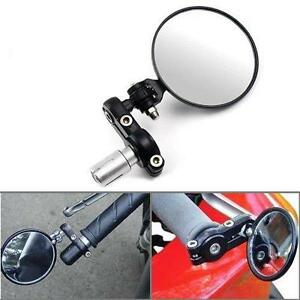 New-A-Pair-of-Universal-Motorcycle-Rearview-Mirror-High-Class-Quality-Black