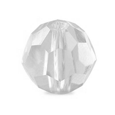 ONE SWAROVSKI CRYSTAL ROUND BEAD 5000, CLEAR CRYSTAL COLOUR, 8 MM