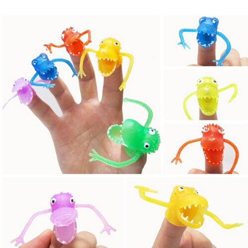 10 Pcs Set Funny PVC Finger Puppets Plastic Dinosaur Finger Toys Mini Kids Toy