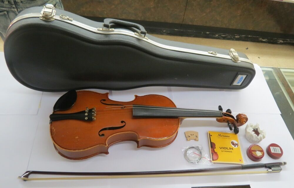 AS IS Violin Copy Of Stradivarius Fritz Strausberg German Made READ DESCRIPTION