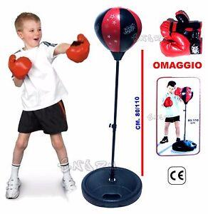 Détails sur Punching Ball Balle 80 110 cm avec Gant Gants de Boxe de Sac Boule de Boxe