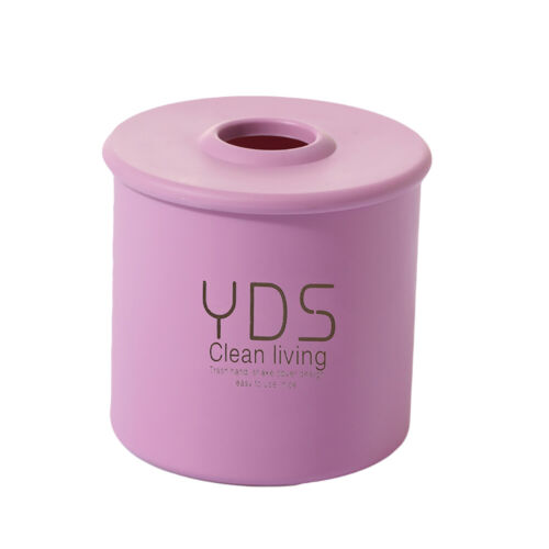 Plastic Tissue Box Cover Cylindrical Paper Case Holder Storage Home Decor Fashio
