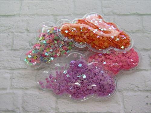2 x nuages Shaker Sequin Transparent APPLIQUES EMBELLISSEMENTS Cheveux Accessoires