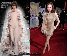 Quintessentially VALENTINO beige/nude chiffon ruffles/flowers coctail silk dress