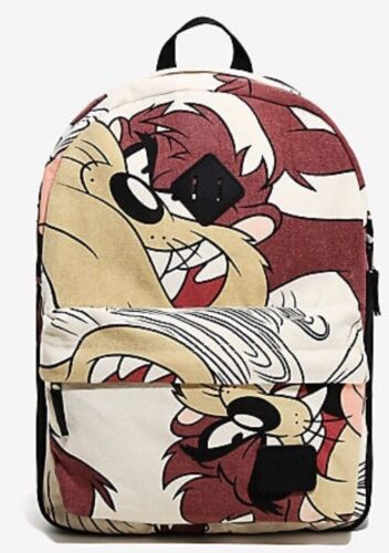 Looney Tunes TAZ Devil Backpack School Bag Large Padded Laptop Compartment