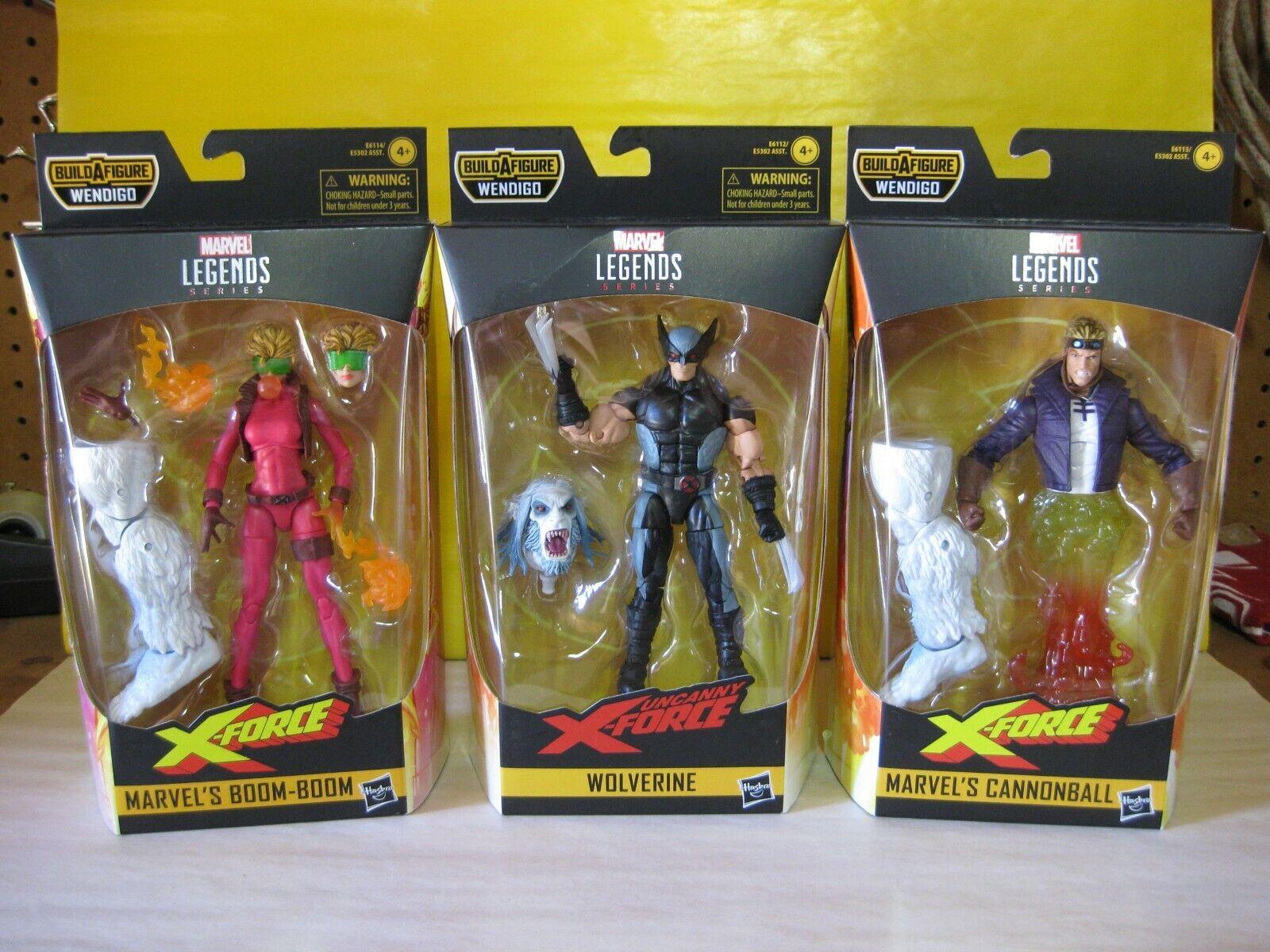 2019 Marvel Leyendas 6  X-Men X-Force Wendigo Baf Onda Conjunto de 6 Nuevo Menta en paquete Uncanny
