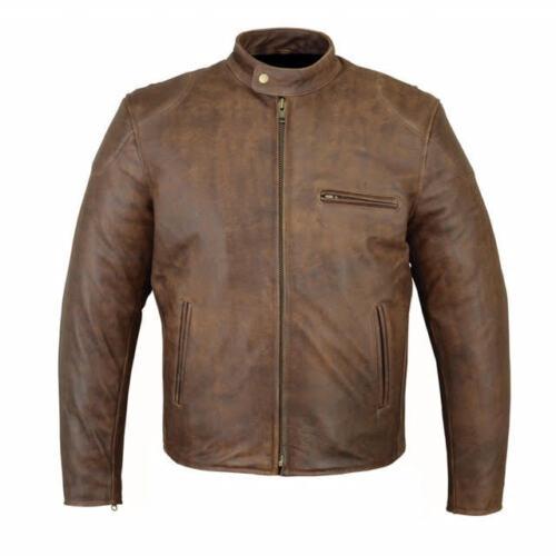 Biker Style Leather Black 1495 jasper Motorcycle Motorbike Brown Fashion Jacket