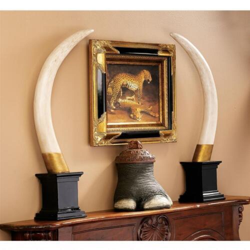 NG33639 British Colonial Elephant Tusk Sculptural Trophy
