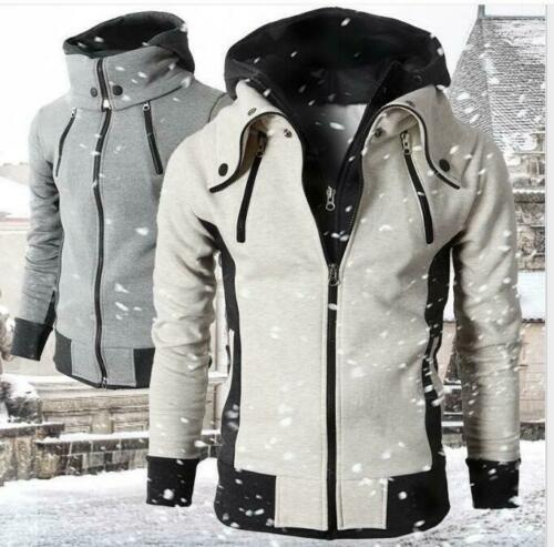 Hooded Sports Suits Mens Long Sleeved Cardigan Zipper Casual Sweaters LITGH