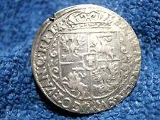 POLAND  BYDGOSZCZ (BROMBERG!): 1623-SV RARE SILVER ORT   EXTREMELY FINE PLUS!!!!