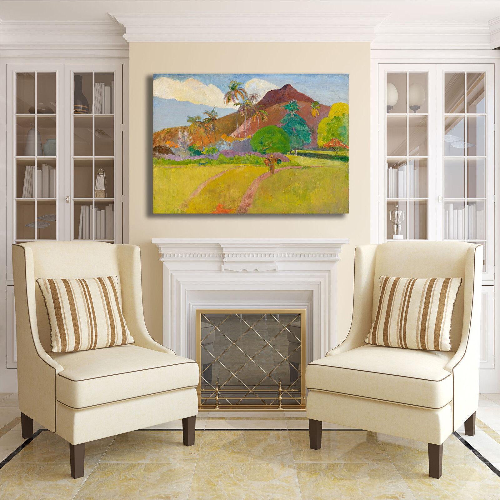 Gauguin paesaggio paesaggio Gauguin tahitiano design quadro stampa tela dipinto telaio arRouge o casa 9d0880