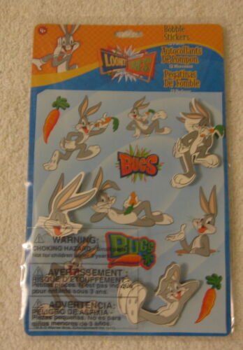 NEW SHEET OF 12 PIECE BUGS BUNNY LOONEY TUNES BOBBLE STICKERS
