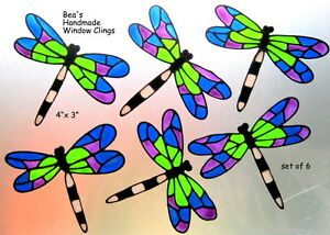 BEA-039-S-6-DRAGONFLY-WINDOW-CLING-CONSERVATORY-DECALS-SAFETY-DECORATION-STICKER