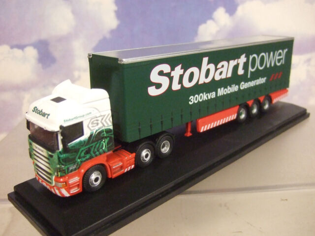 Oxford 1/76 SCANIA R450 HIGHLINE Curtainside trlr Eddie Stobart POTENZA