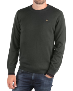 Pull Refrigiwear M23400 Pull à col rond 100% laine Pull green Pull régulier