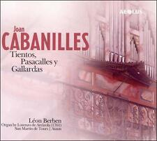 JOAN CABANILLES: TIENTOS, PASACALLES Y GALLARDAS NEW CD