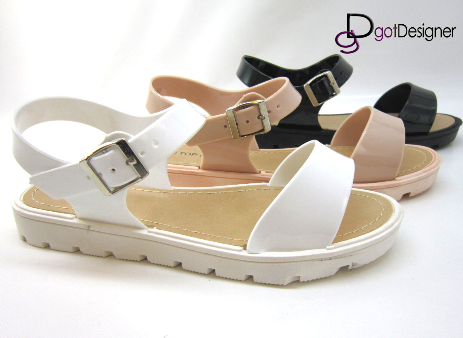 Womens Fashion Sandal Buckle Shoe Concise Flats Flip-flops Buckle Sandal Spring Comfort Summer 58a0e8