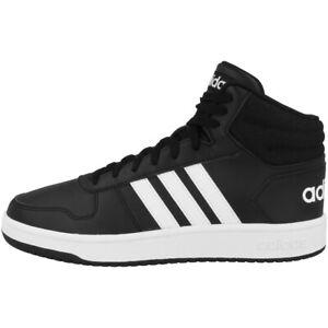 Détails sur Adidas Hoops 2.0 Mid Chaussures Men Hommes Loisirs Sneaker Black White bb7207 afficher le titre d'origine