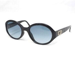 ac86452285fb Christian Dior 2977 black oval big cd logo ladies sunglasses croc ...