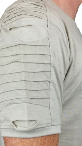 Details about  /KING KOUTURE MENS BIKER TEE WITH POCKET /& STEP HEM IN STONE //// SALE ////