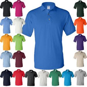 GILDAN Mens Polo Sport Shirt Jersey UNIFORM CASUAL Unisex Rugby Tshirt S-5XL