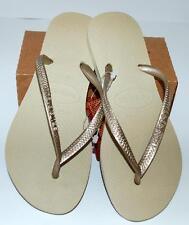 6075b80c2 HAVAIANAS BNWT Kids Girls THONGS FLIP FLOPS Sandals Green Animal Sand Logo  Surf