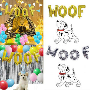 Dog Birthday Party Supplies Letter Woof